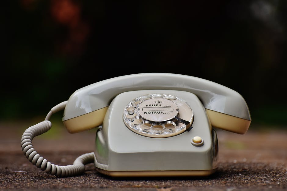 A close up of a telephone